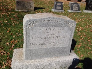 Jacob and Eliza's Tombstone in South Kinloss Cemetery