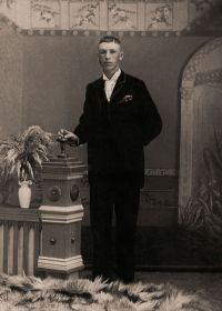 A young William David Miller - perhaps a wedding photo